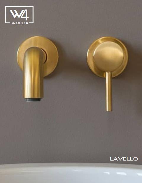 Lavello-brushed-Gold-wastafel-kraan