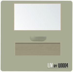 LIV XL spiegel eiken 100