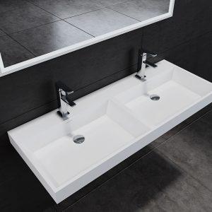 Solid Surface wastafel 120 cm