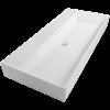 Wastafel keramisch 100 en 120 cm